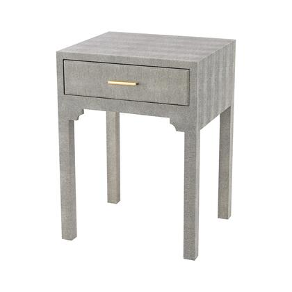 3169-026S Sands Point Accent Side Table With Drawer  In Grey Faux