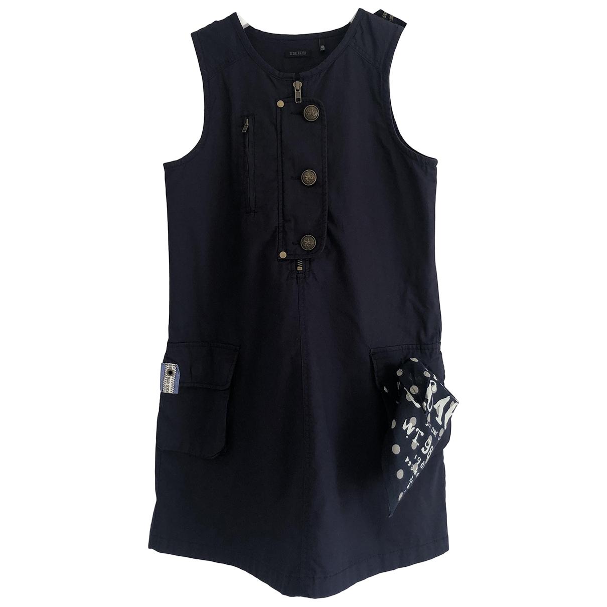 Ikks - Robe    pour enfant en coton - bleu
