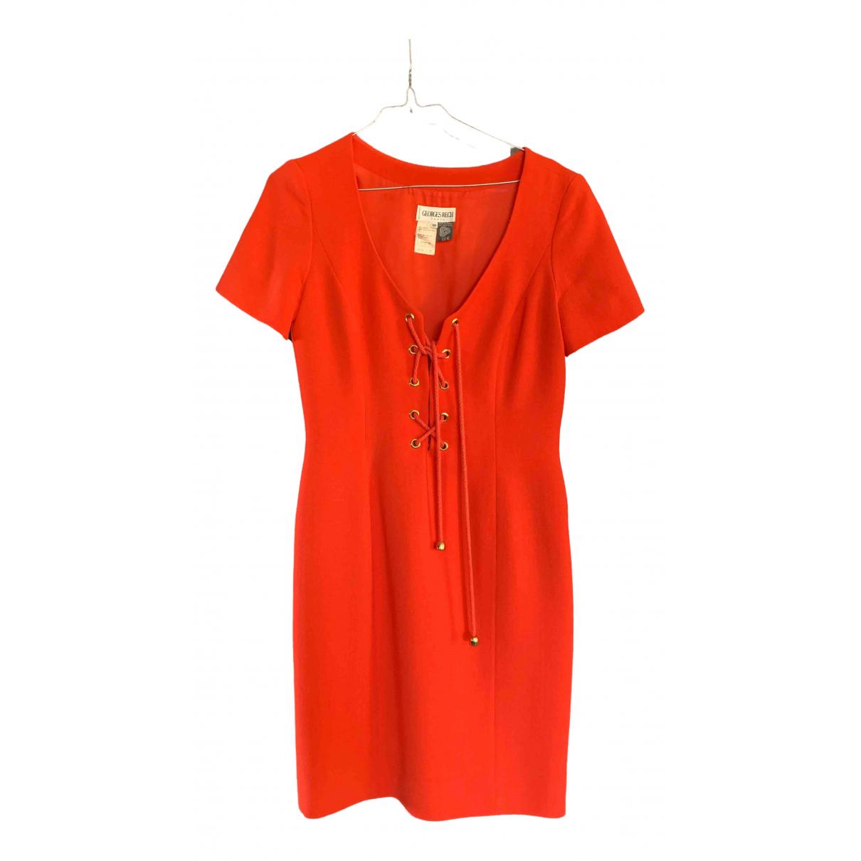 Georges Rech \N Kleid in  Orange Wolle
