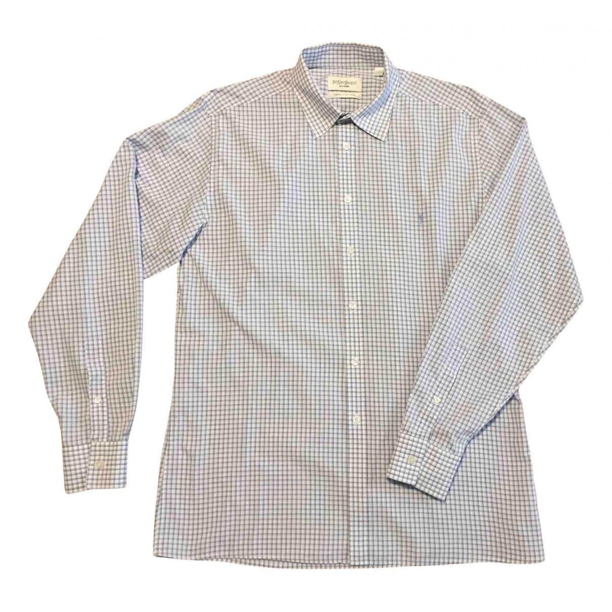 Yves Saint Laurent N White Cotton Shirts for Men L International