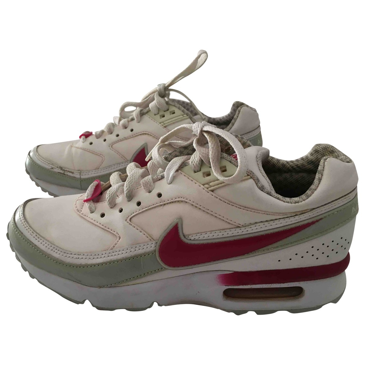 Nike Air Max  White Leather Trainers for Women 36.5 EU