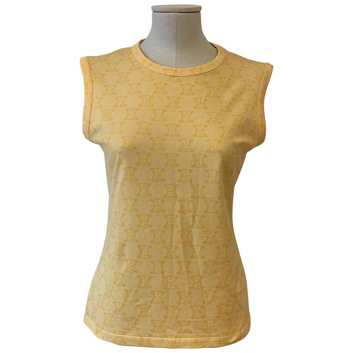 Celine - Top   pour femme en coton - jaune