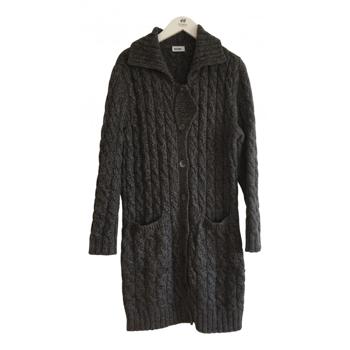 Moschino N Brown Wool Knitwear for Women 48 IT