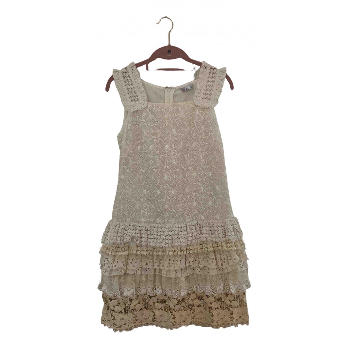 Red Valentino Garavani \N Beige Silk dress for Women 40 IT