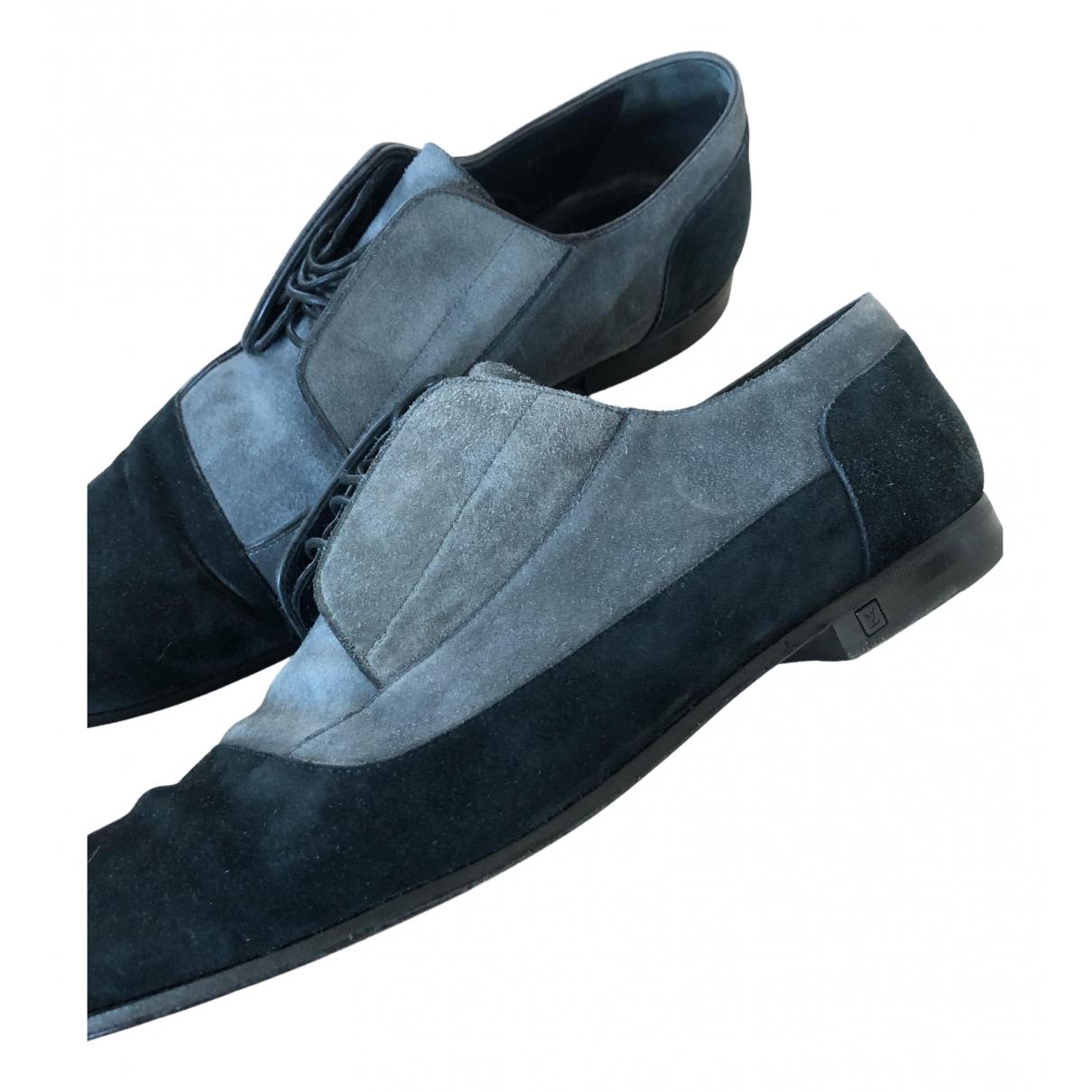 Louis Vuitton \N Black Suede Flats for Men 8.5 UK