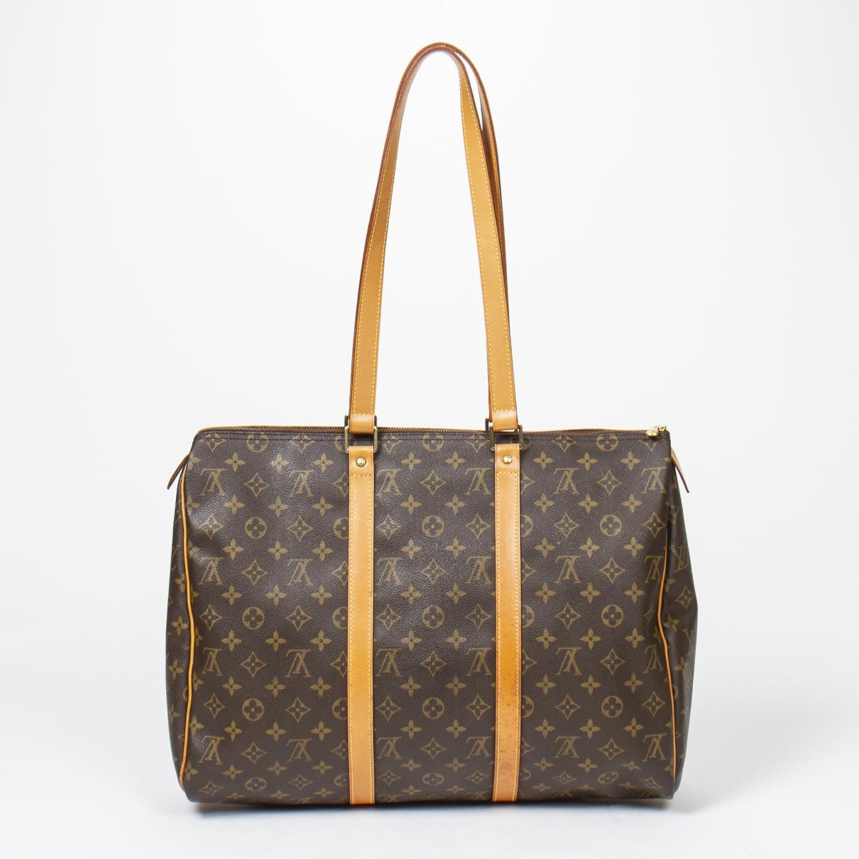 Louis Vuitton - Sac de voyage Flanerie pour femme en coton - marron