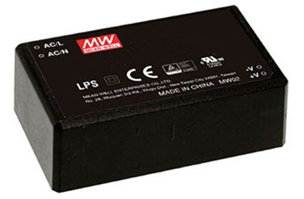 Mean Well , 40W Encapsulated Switch Mode Power Supply, 5V dc, Encapsulated