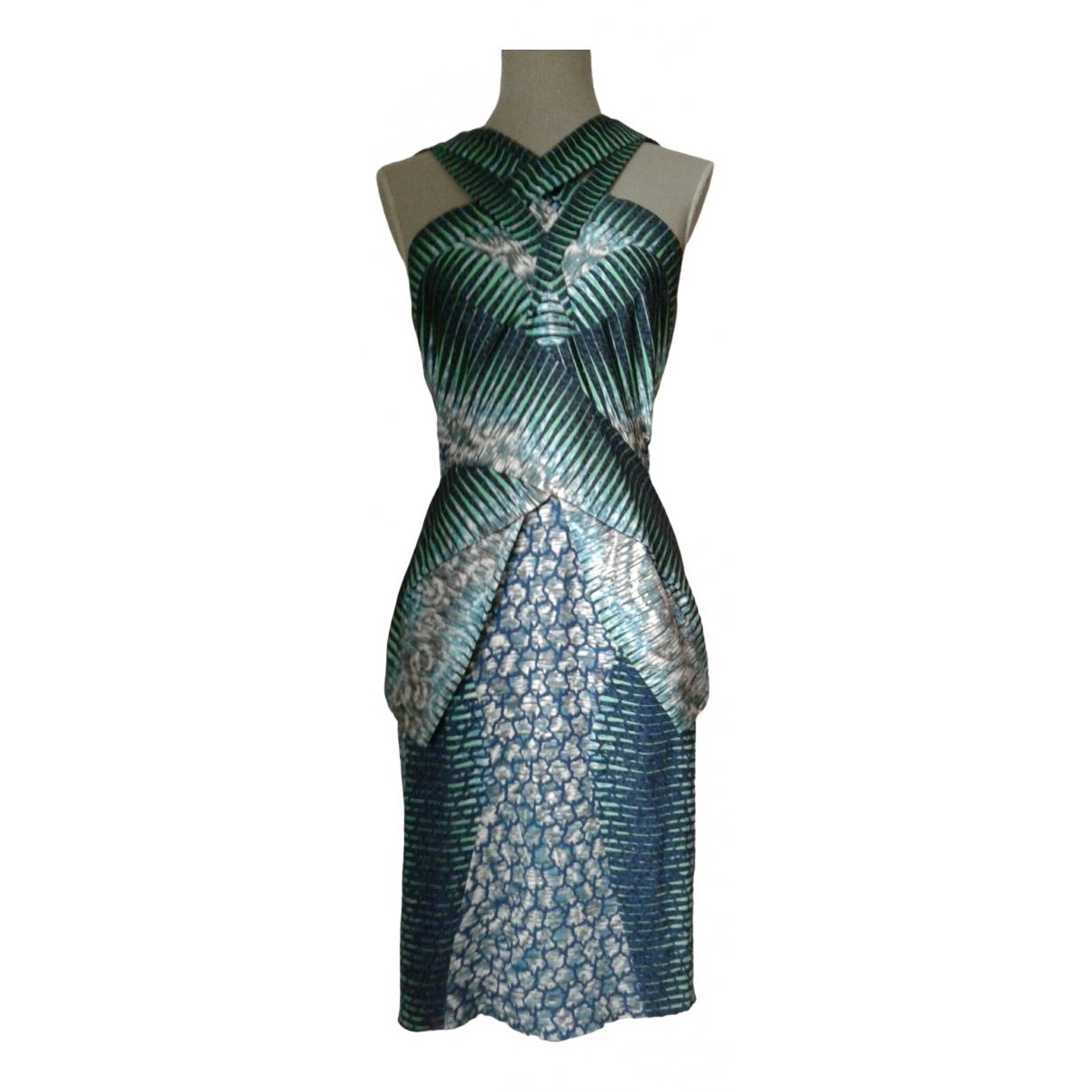 Peter Pilotto \N Kleid in  Blau Seide