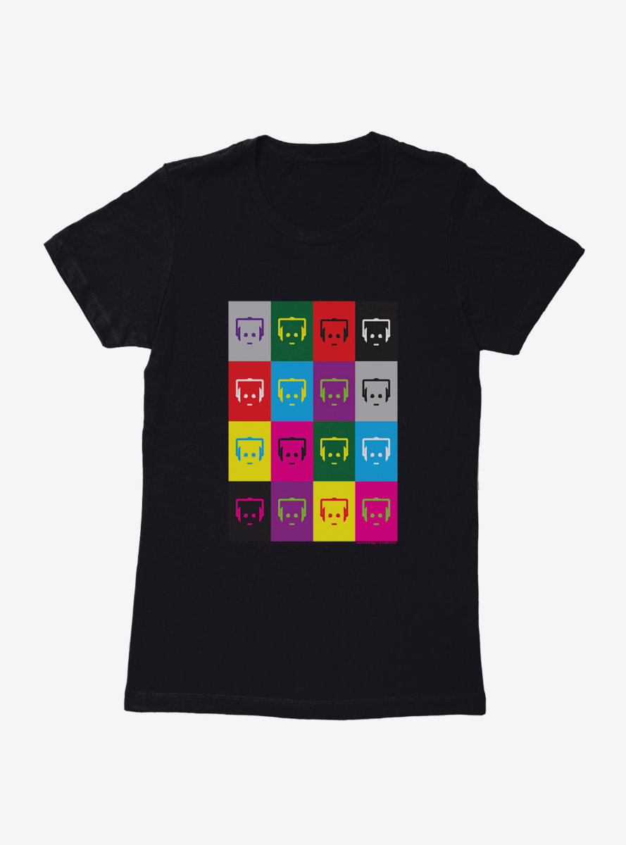 Doctor Who Cybermen Multi Faces Womens T-Shirt