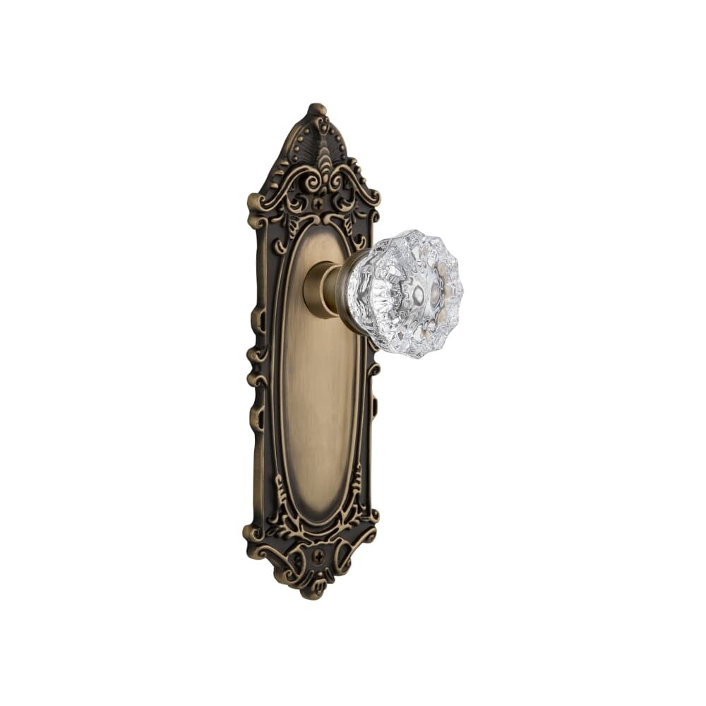 Nostalgic Warehouse VICCRY_PSG_234_NK Crystal Solid Brass Passage Door (Timeless Bronze)