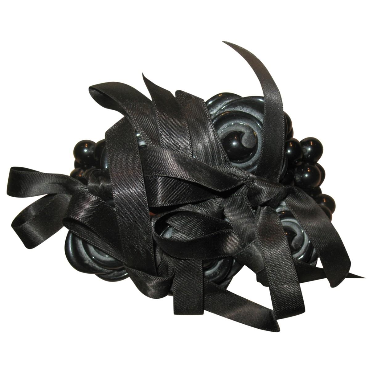 Dyrberg/kern \N Armband in  Schwarz Leder