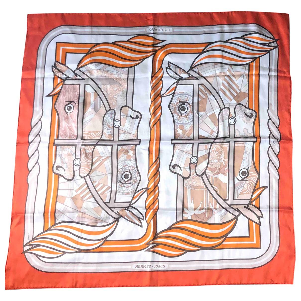 Hermes \N Tuecher in  Orange Seide