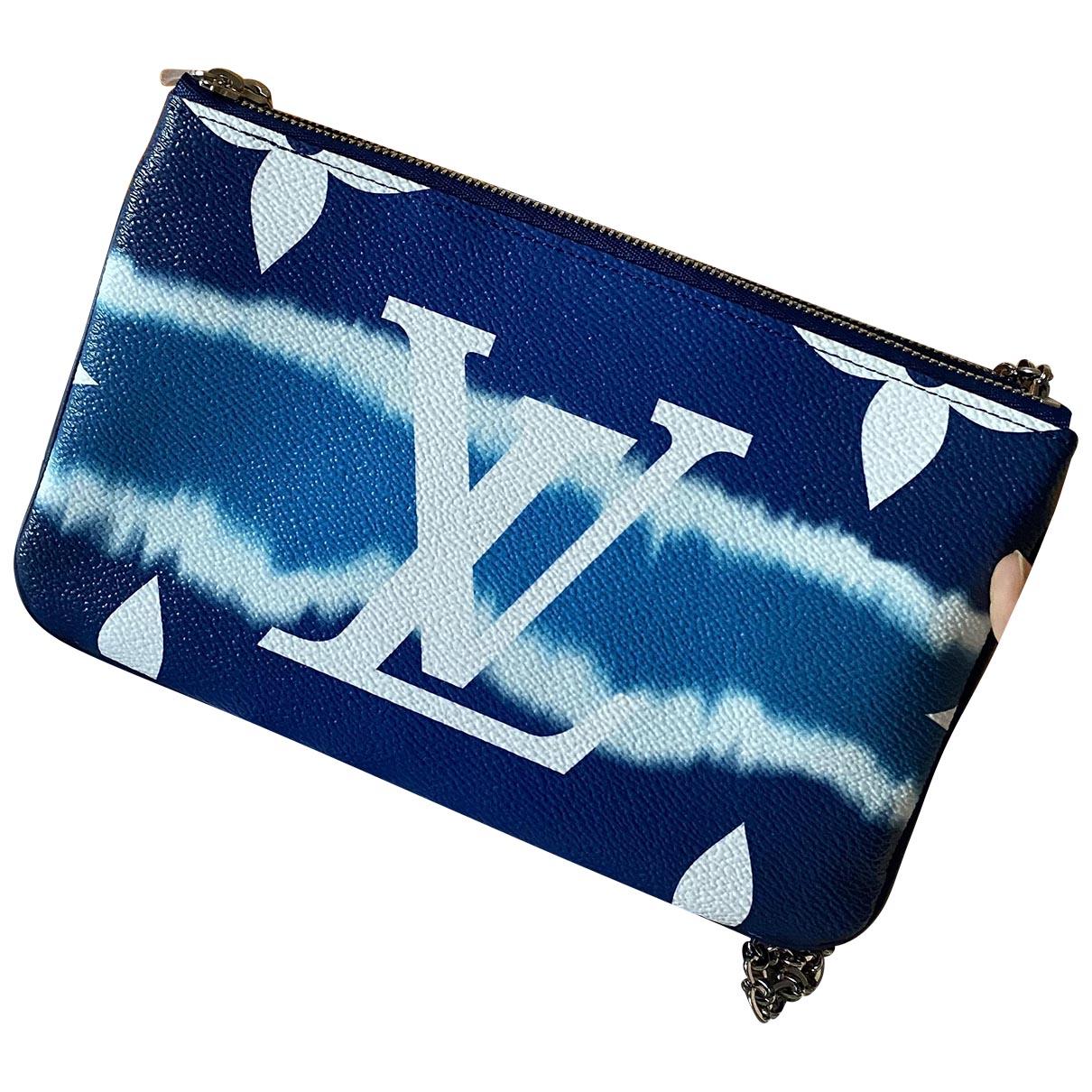 Louis Vuitton - Pochette Double zip pour femme - bleu