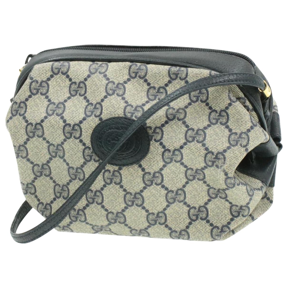 Gucci \N Handtasche in  Marine Leinen