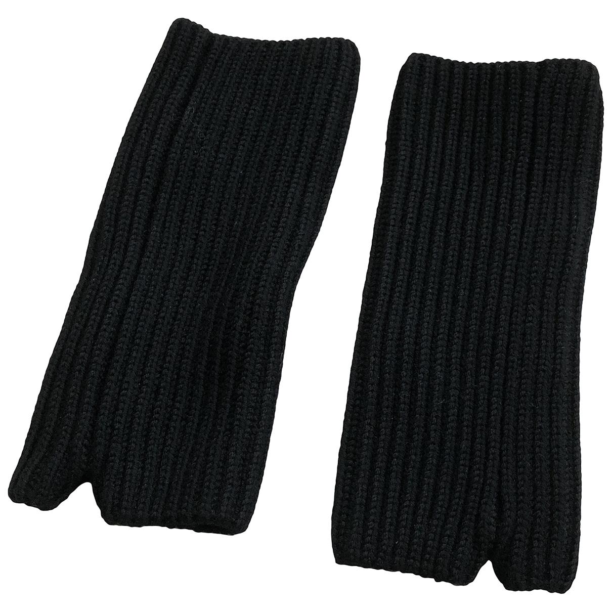Hyke - Gants   pour femme en laine - noir
