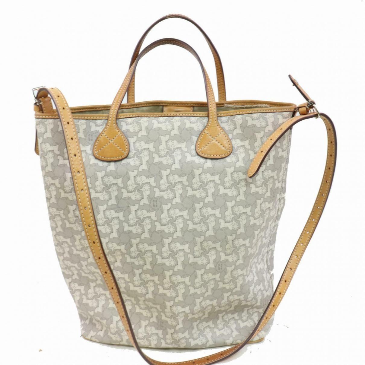 Celine \N Handtasche in  Grau Leinen