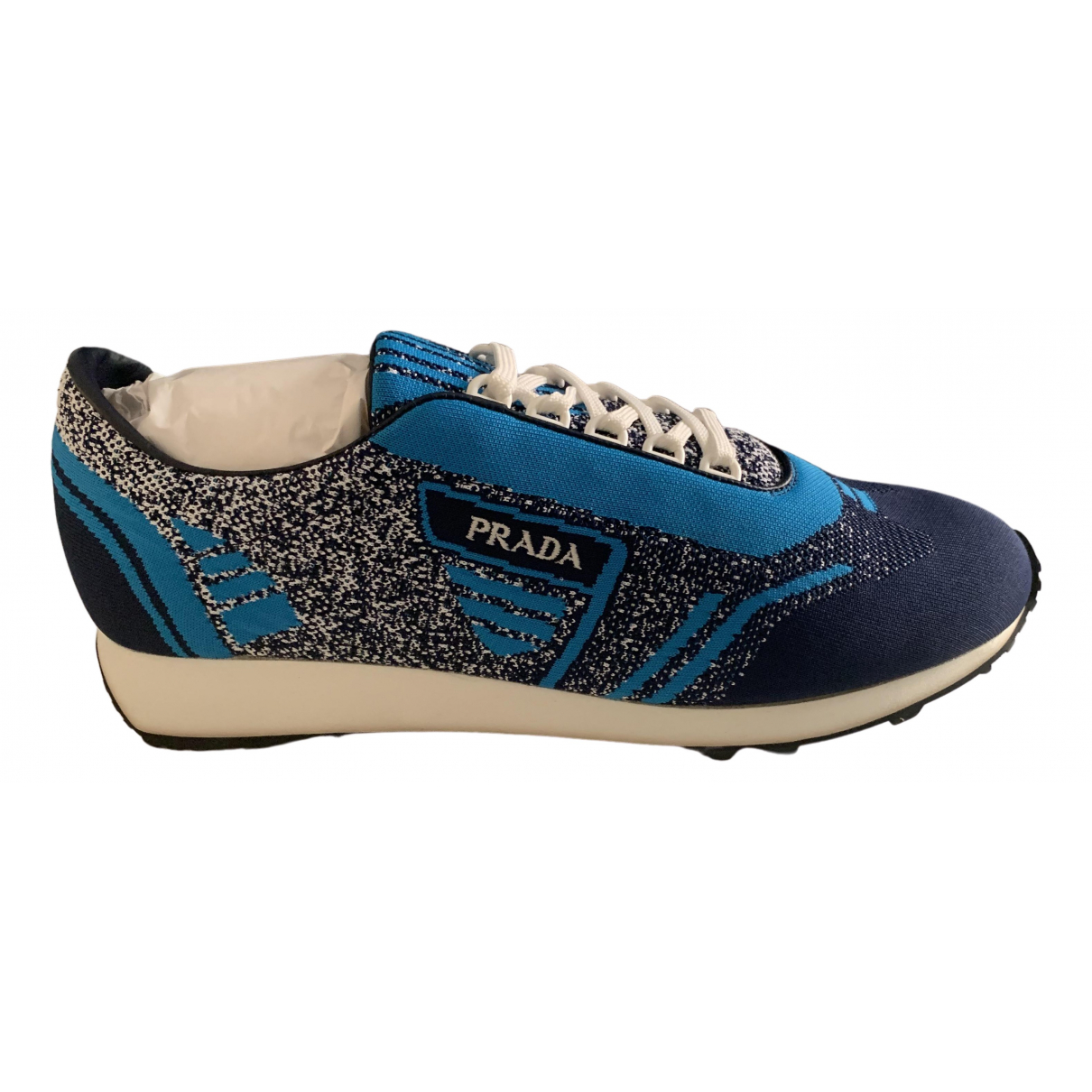 Prada \N Blue Cloth Trainers for Men 43 EU