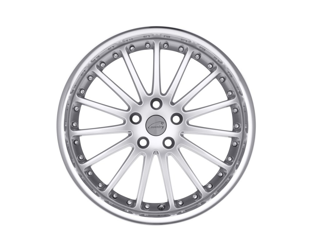 Coventry 1895COW255108S63 Whitley Wheel 18x9.5 5x108|5x4.25 63mm Hyper Silver w/ Mirror Cut Lip
