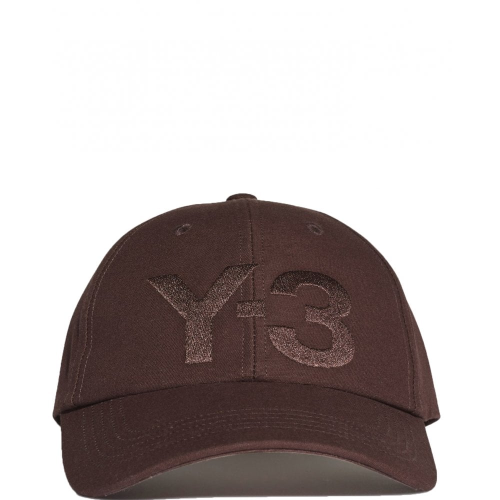 Y-3 Logo Cap Colour: BURGUNDY, Size: ONE SIZE