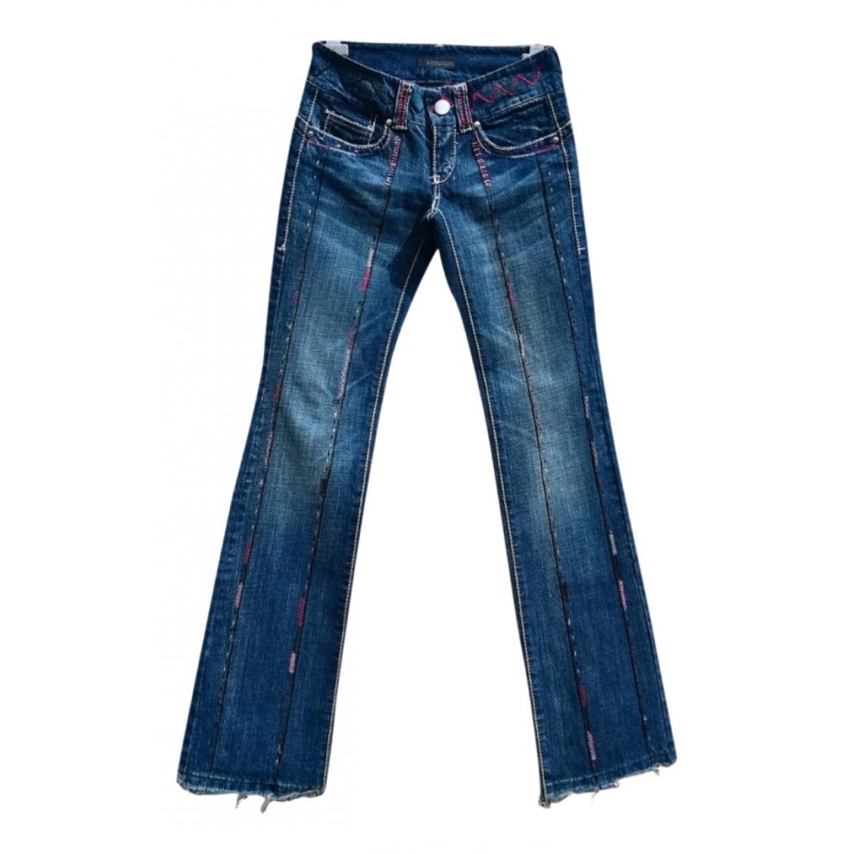 Ermanno Scervino \N Blue Cotton Jeans for Women 34 FR