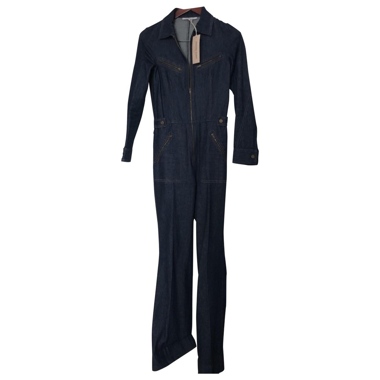 Gerard Darel \N Navy Denim - Jeans jumpsuit for Women 34 FR