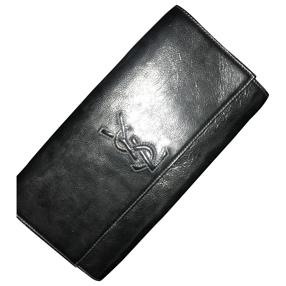 Yves Saint Laurent Belle de Jour Black Leather Clutch bag for Women \N