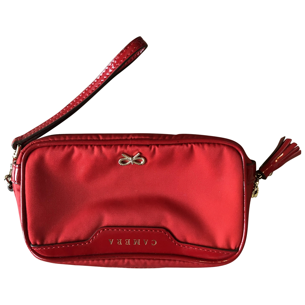 Anya Hindmarch - Petite maroquinerie   pour femme en toile - rouge