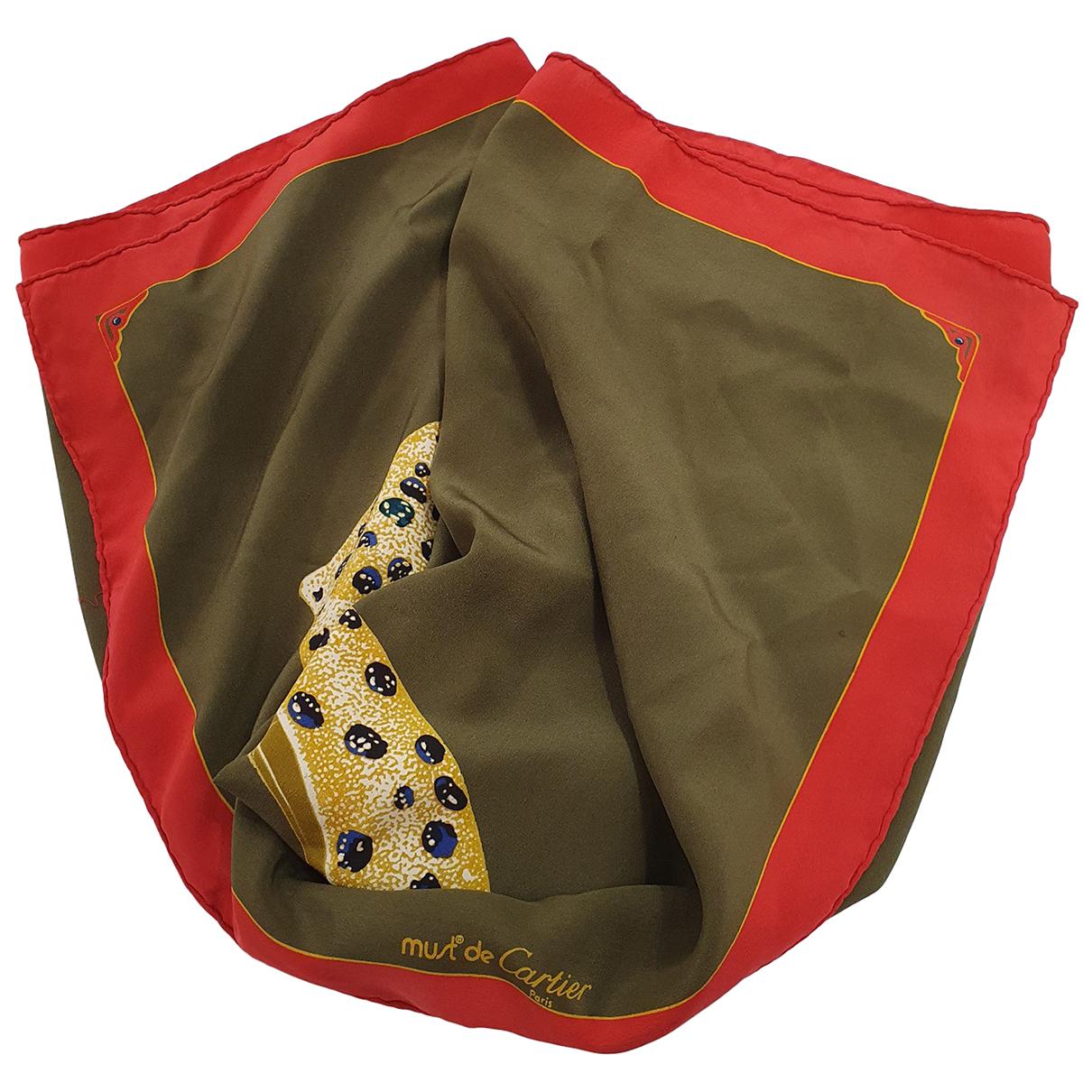 Cartier - Foulard   pour femme en soie - kaki