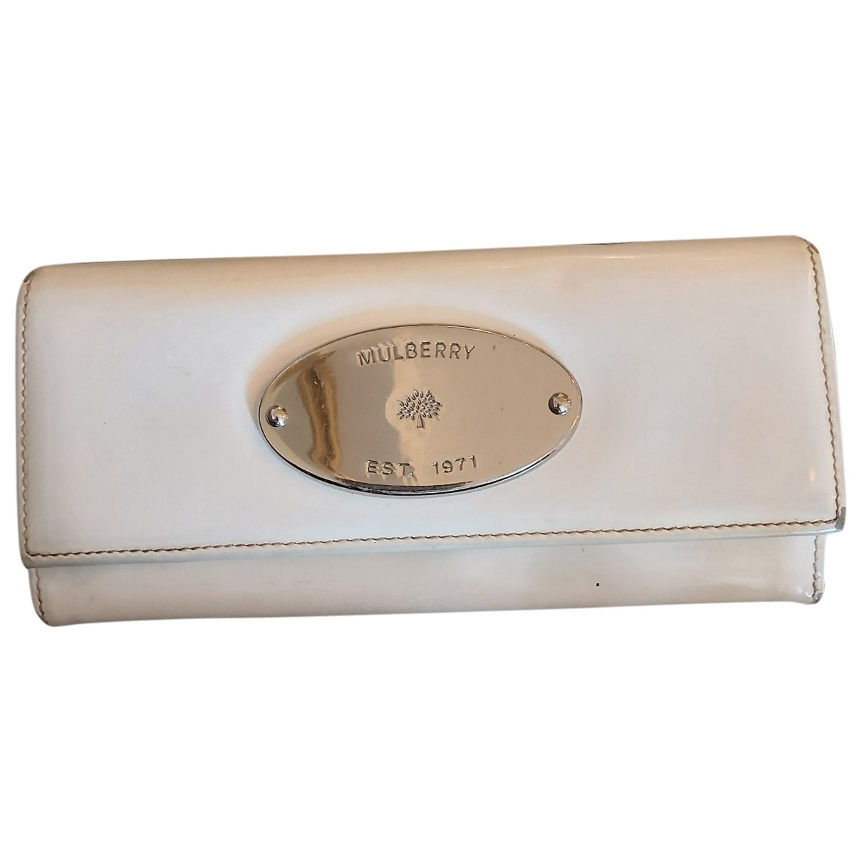 Mulberry \N Portemonnaie in  Weiss Lackleder