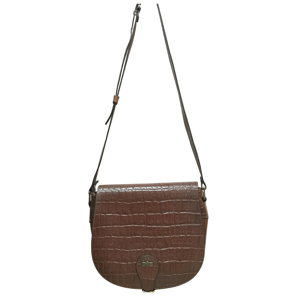 Non Signé / Unsigned Hippie Chic Brown Leather handbag for Women \N