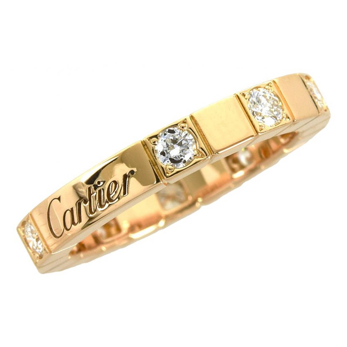 Cartier - Bague Lanieres pour femme en or rose - dore