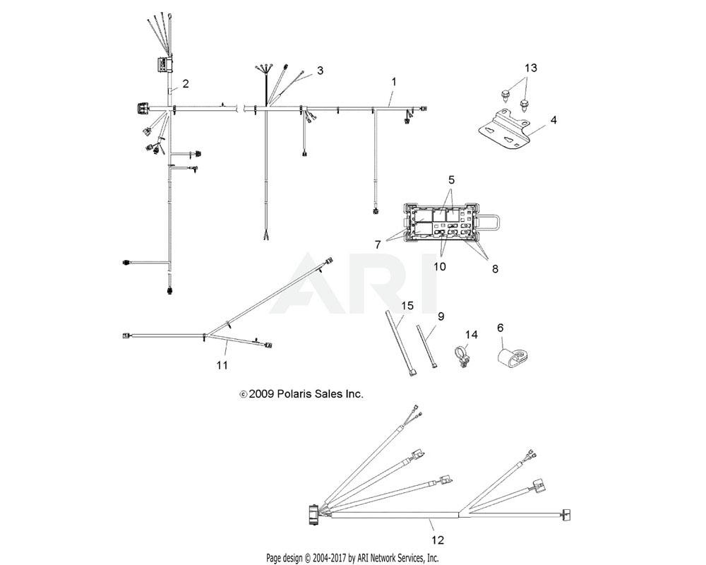 Polaris OEM 2411182 Harness, Cargo Box