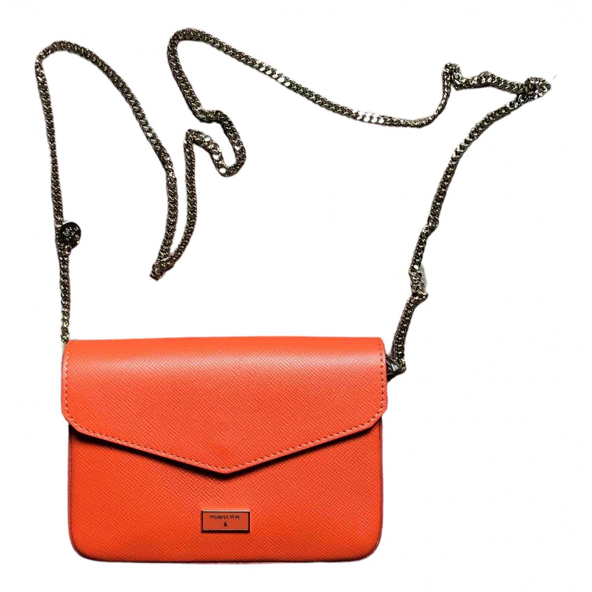 Patrizia Pepe \N Clutch in  Orange Leder