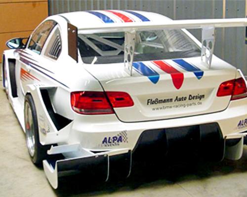Flossman GTR Rearwing 1 Piece | 1 Plane Wide BMW E92 M3 08-13