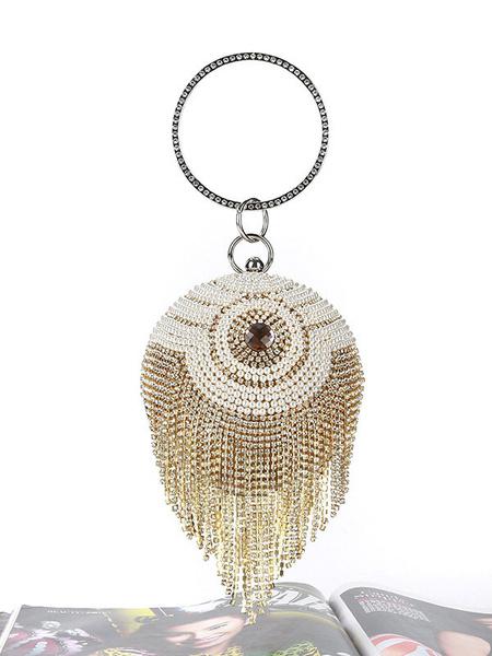 Milanoo Disfraz Halloween Bolsos de embrague de mujer con tachuelas de los años 20 Gran accesorio Gatsby Accesorios de vestido de aleta Halloween