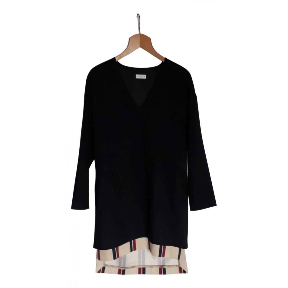 Dries Van Noten \N Kleid in  Schwarz Wolle