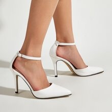 Minimalist Ankle Strap Stiletto Pumps