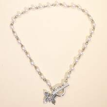 Butterfly Geometric Charm Necklace