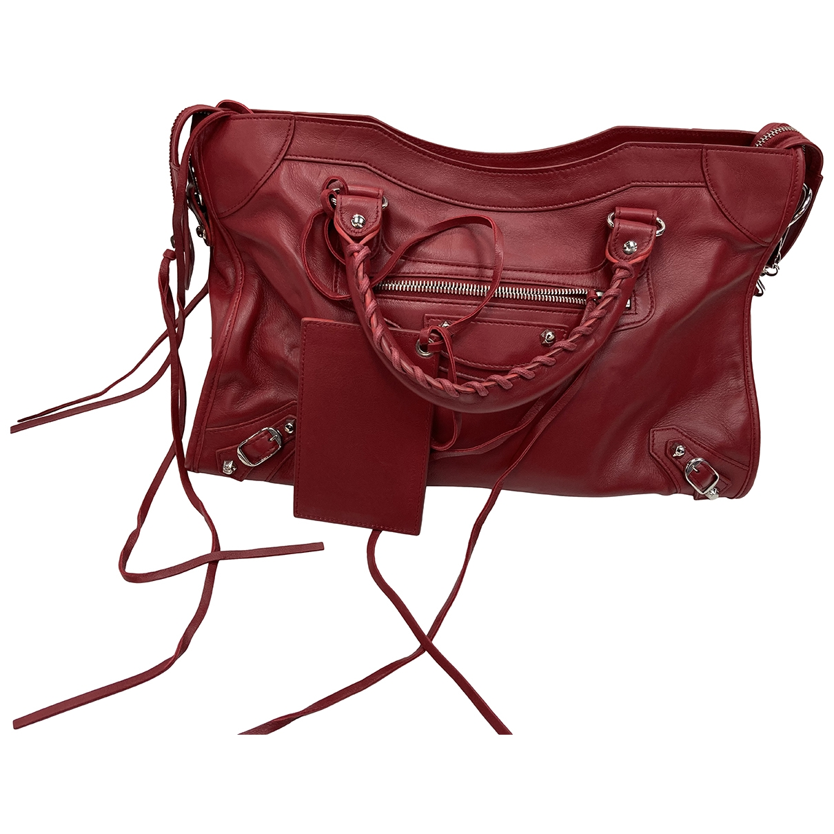 Balenciaga City Red Leather handbag for Women \N