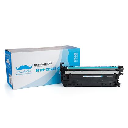 Compatible HP 648A CE261A Cyan Toner Cartridge - Moustache@