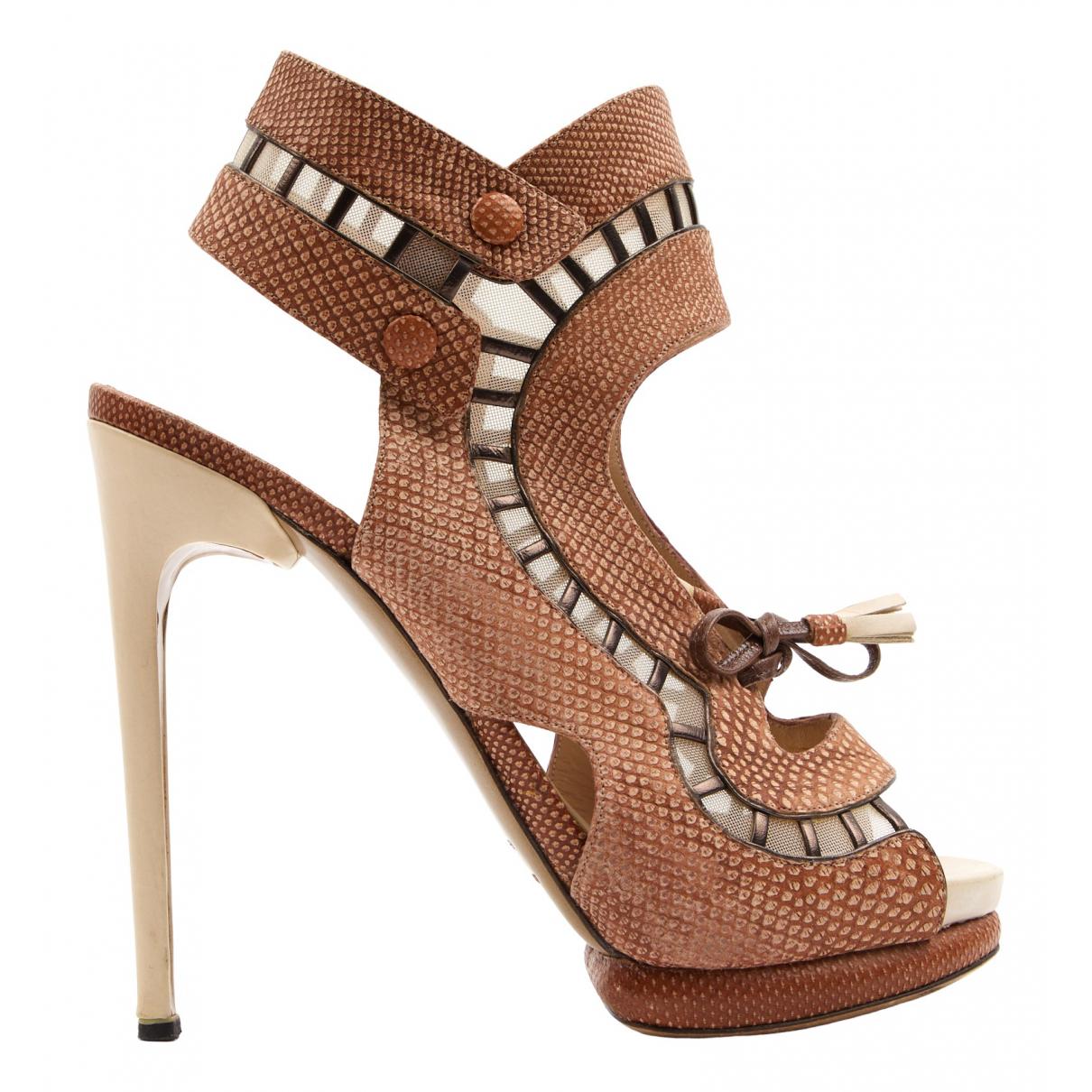 Nicholas Kirkwood \N Brown Leather Sandals for Women 40 EU