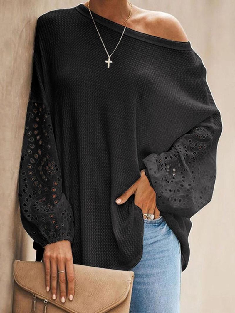 Ericdress Long Sleeve Plain Mid-Length Women's Casual Loose T-Shirt