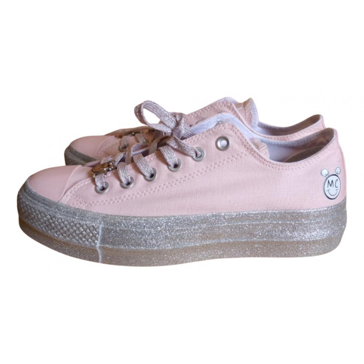 Converse \N Sneakers in  Silber Leder