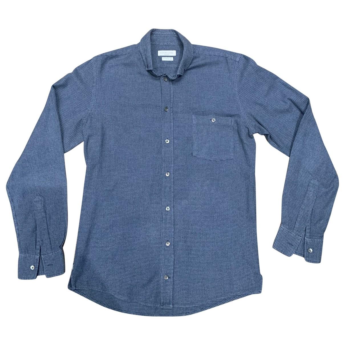 Richard James - Chemises   pour homme en coton - bleu