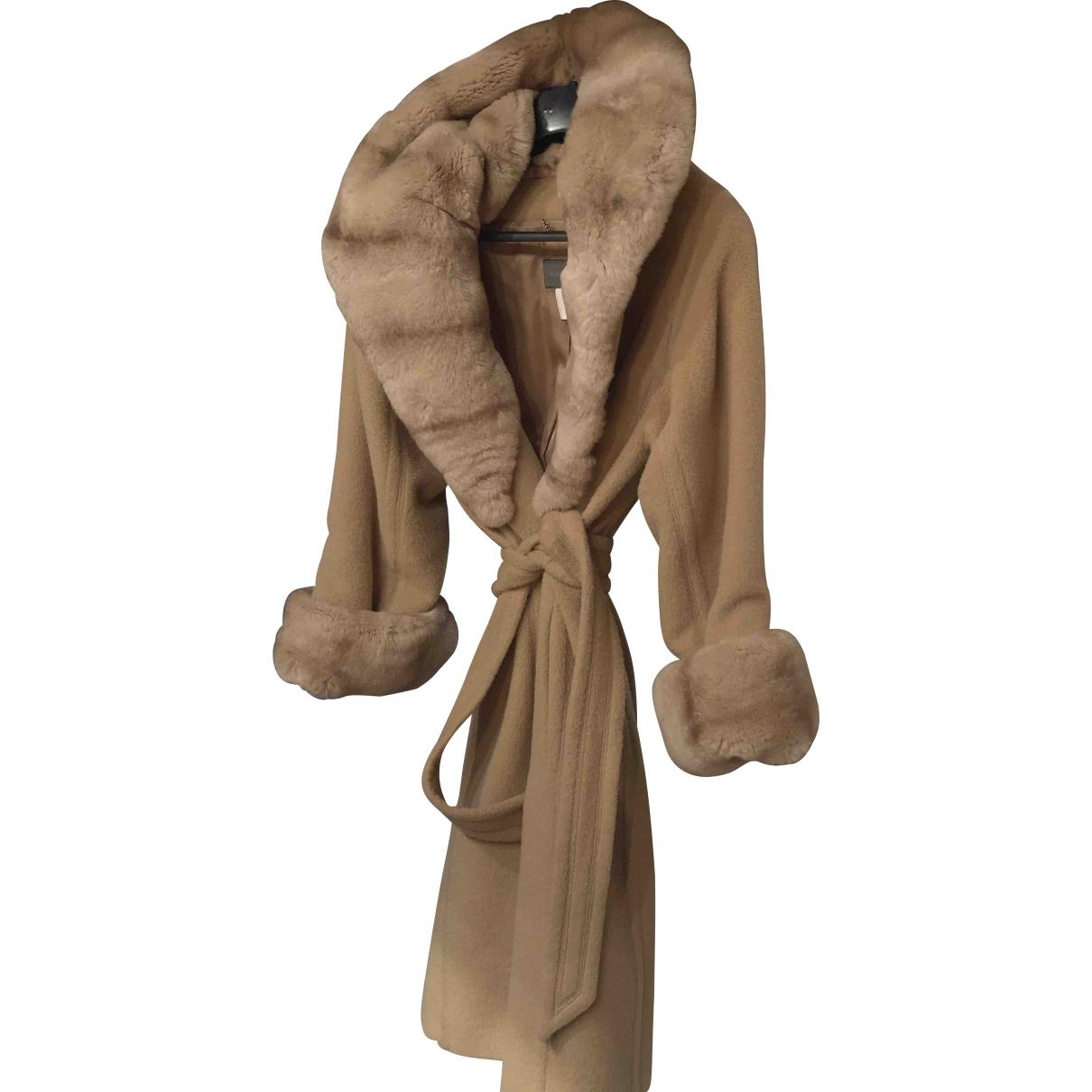 Alberta Ferretti \N Camel Wool coat for Women 42 IT