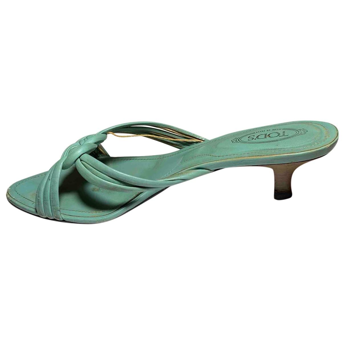 Tods \N Sandalen in  Blau Leder