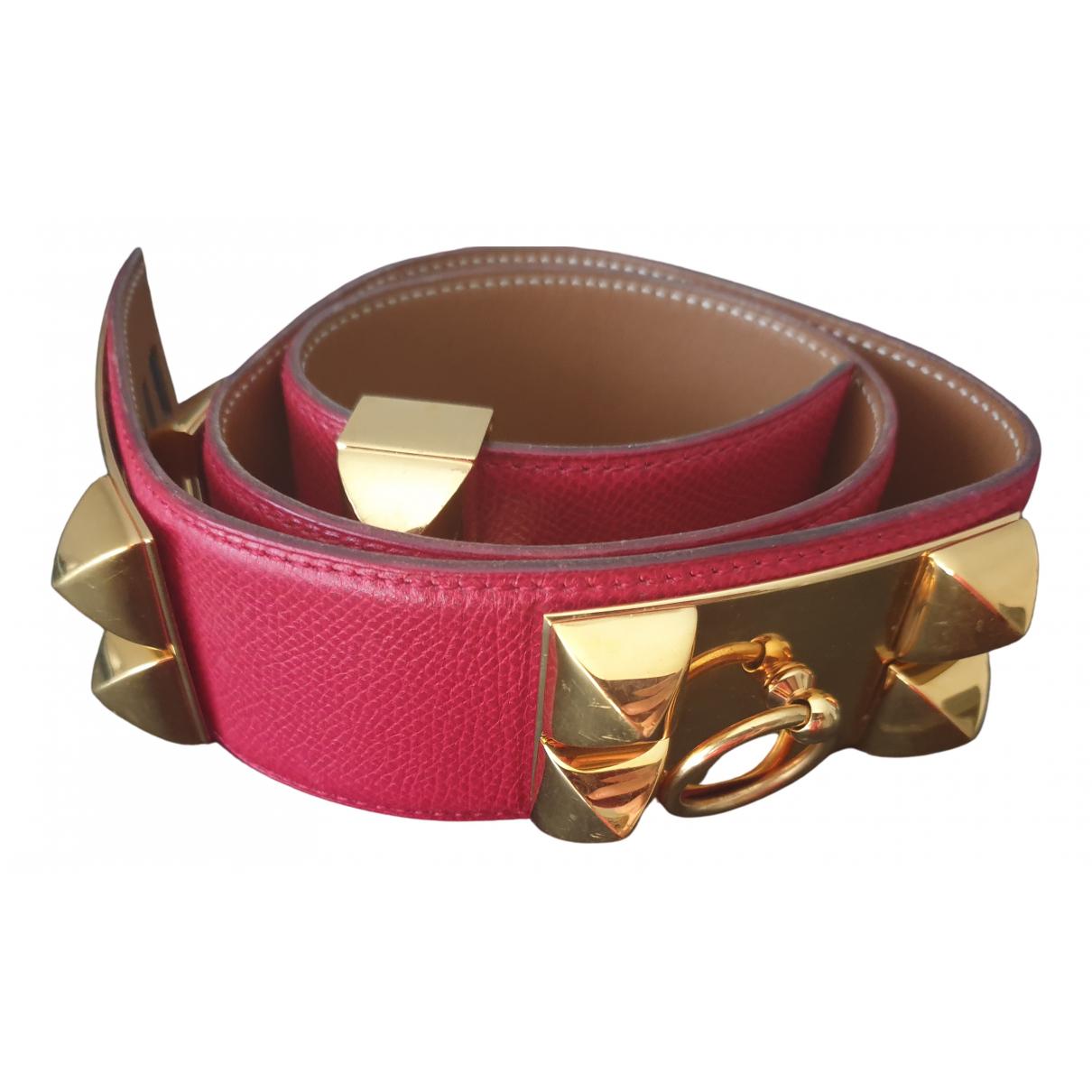 Cinturon Collier de chien de Cuero Hermes