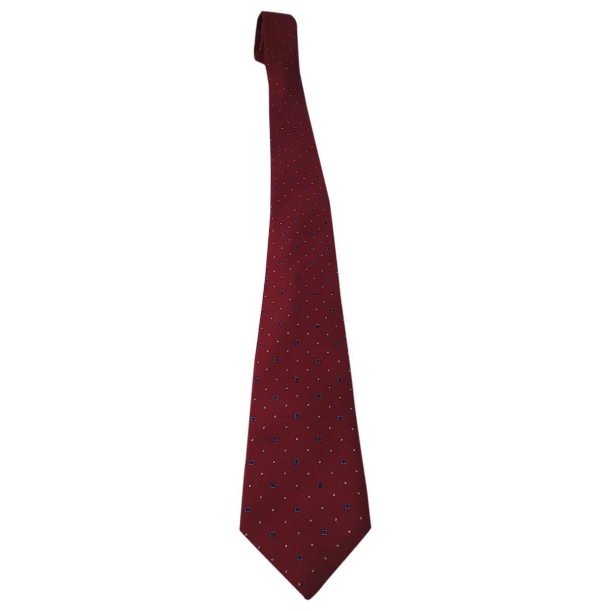 Valentino Garavani - Cravates   pour homme en soie - rouge