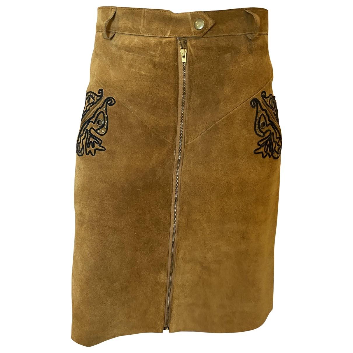 Manoush \N Camel Leather skirt for Women 36 FR