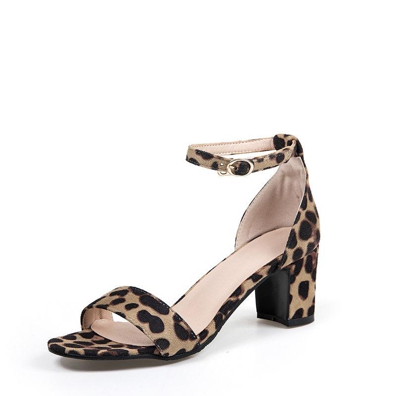Ericdress Heel Covering Chunky Heel Open Toe Thread Sandals